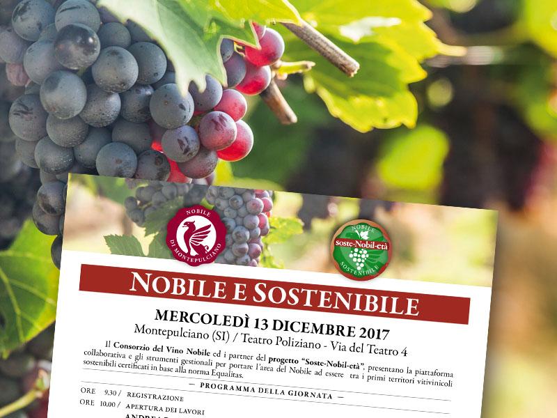 """Mercoledì 13 dicembre 2017. A Montepulciano il seminario """"Nobile e sostenibile"""""""