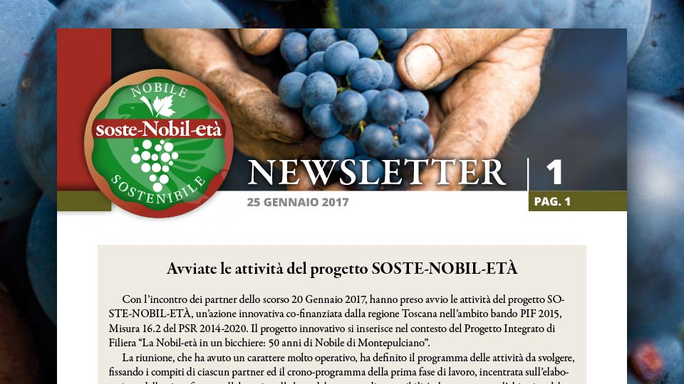 Soste-Nobil-Età. La newsletter 1 del 25 gennaio 2017