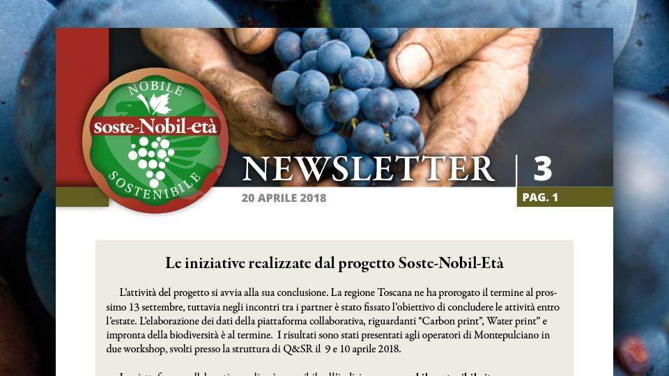 Soste-Nobil-Età. La newsletter 3 del 20 aprile 2018